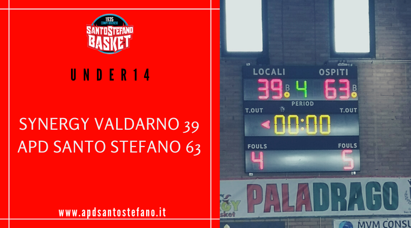 Under14: Synergy Valdarno – Santo Stefano 39-63
