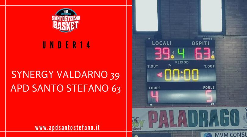 Under14: Synergy Valdarno – Santo Stefano 39-63