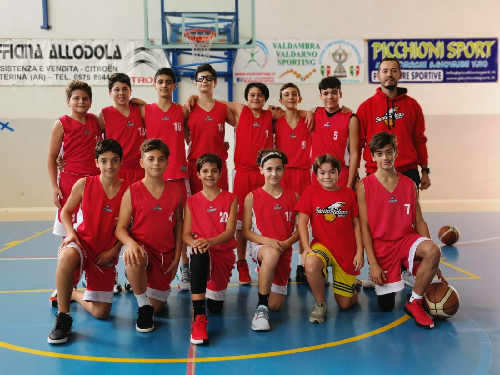 Under14: Valdambra - Santo Stefano 45-80